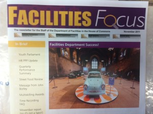 Facilities Focus from the House of Commons