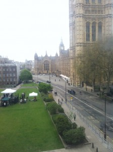 Parliament Street / Millbank at 1pm today