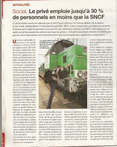 SNCF takes more people to do the same job