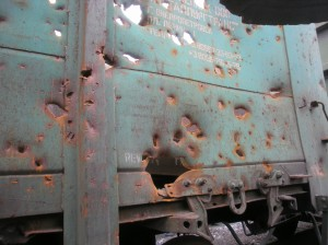 Ukraine rail wagon at war - from operator METRANS